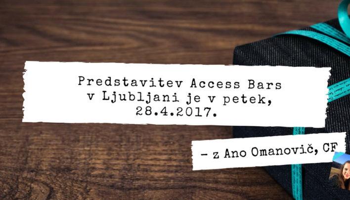 Predstavitev Access Bars v Ljubljani