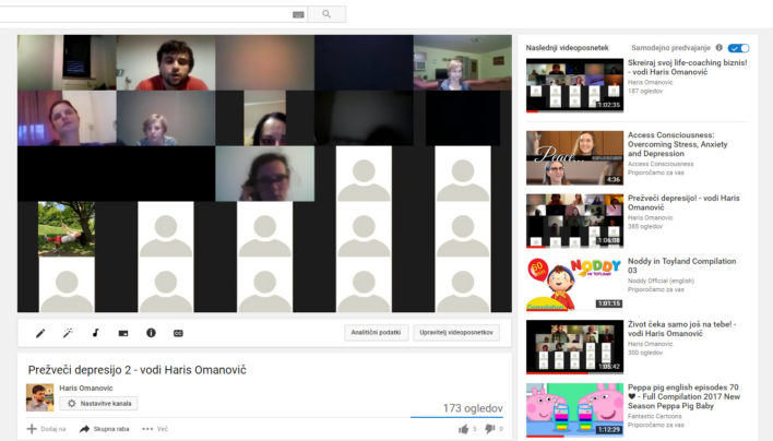 Prežveči depresijo 2 – posnetek spletnega seminarja s Harisom